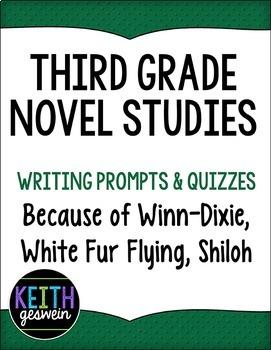 3rd Grade Novel Studies Bundle:  Because of Winn-Dixie, Shiloh, White Fur Flying