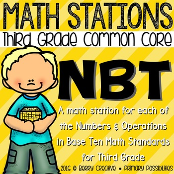 Third Grade Numbers and Operations in Base Ten Math Stations