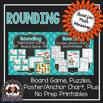 Place Value, Addition, Subtraction, Rounding, Multiples of 10 Game Set