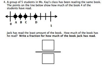 Third Grade Numbess in Fractions Standard Based Assessments