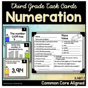 Numeration Task Cards (Third Grade)