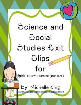 Third Grade Ohio Content Standard Exit Slips for Social Studies and Science