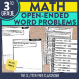 Open Ended Math Questions for 3rd Grade