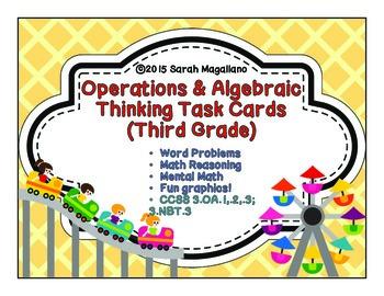 Third Grade Operations & Algebraic Thinking Math Task Cards