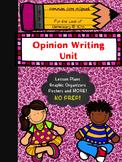 Third Grade Opinion Unit Writing