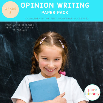 Third Grade Opinion Writing Paper Pack