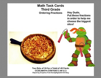 Third Grade-Ordering Fractions-Math Task Cards-CCSS.MATH.CONTENT.3.NF.A.3