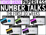 Third Grade PAPERLESS NUMBER TALKS- The First 10 Weeks