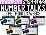 Third Grade PAPERLESS NUMBER TALKS- The Third 10 Weeks