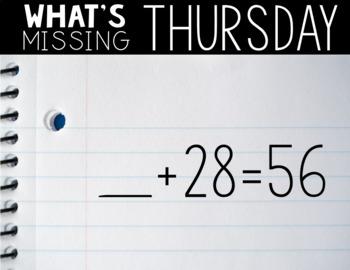 Third Grade PAPERLESS Number Talks Sample Week