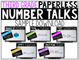 Third Grade PAPERLESS Number Talks Sample Week