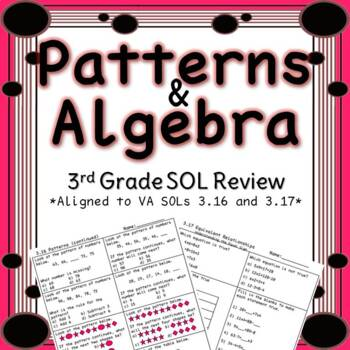 Third Grade Patterns and Algebra Review