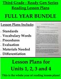 Third Grade Pearson ReadyGEN Reading Lesson Plans - ALL ye