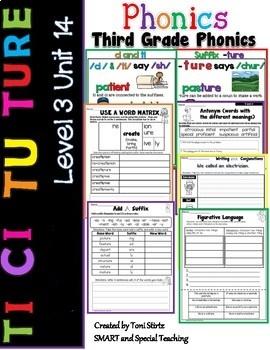 Third Grade Phonics Level 3 Unit 14 ( ture tu ci and ti )
