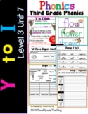 Third Grade Phonics Level 3 Unit 7 ( Y to I Worksheets )