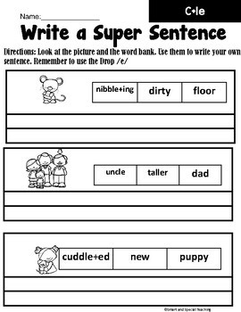 Third Grade Phonics Level 3 Unit 8 (Consonant le syllable Worksheets )