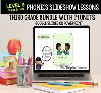 Third Grade Phonics Slideshow Lesson using Powerpoint or Google Slides FREEBIE