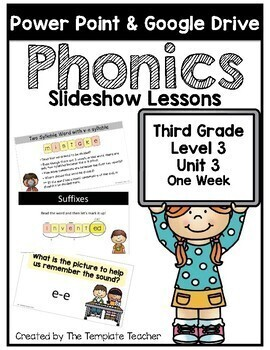 Third Grade Phonics Slideshow Lessons Unit 3
