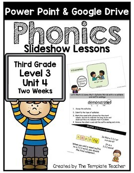 Third Grade Phonics Slideshow Lessons Unit 4