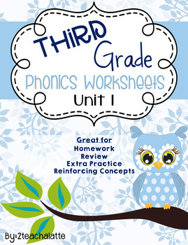Third Grade Phonics Unit 1 Worksheets