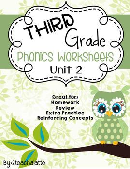 Third Grade Phonics Unit 2 Worksheets