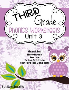 Third Grade Phonics Unit 3 Worksheets