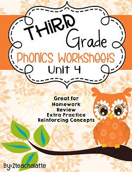 Third Grade Phonics Unit 4 Worksheets