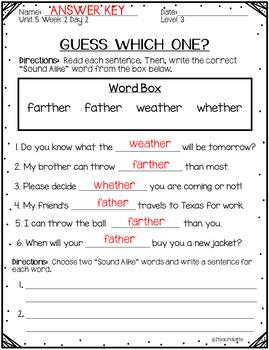 Third Grade Phonics Unit 5 Worksheets