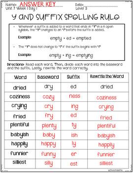 Third Grade Phonics Unit 7 Worksheets