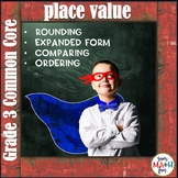 Place Value Games 3rd, 4th, Grades -Rounding, Expanded Form, Comparing, Ordering