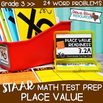 Third Grade Place Value Math Test Prep Review Game   Third Grade TEKS