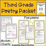Distant Learning- Third Grade Poetry Packet
