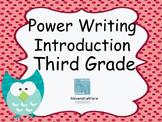Third Grade Power Writing Introduction