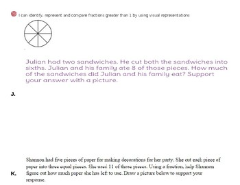 Third Grade Practice: Fractions Greater than 1 Whole
