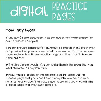 Third Grade Practice Pages~ Digital Classifying Geometric Figures