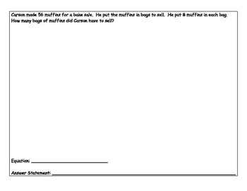 Third Grade Problem Solving Packet #2