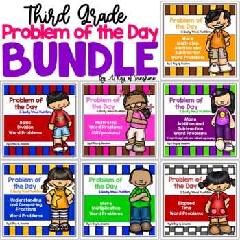 Third Grade Word Problems BUNDLE {Problem of the Day}