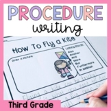Third Grade Procedure Writing Prompts and Worksheets