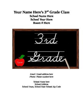 Third Grade Procedures Guide