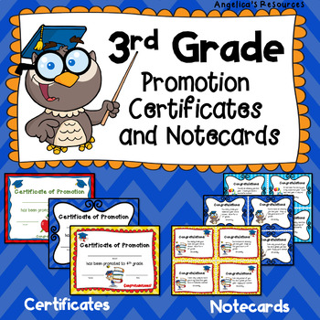 End of the Year Awards: 3rd Grade Promotion Certificates a