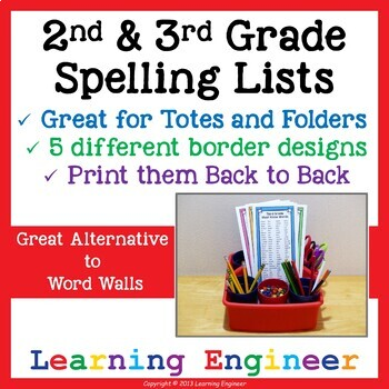 2nd Grade Spelling and 3rd Grade Writing