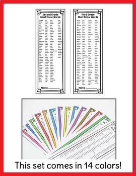 2nd Grade Spelling & 3rd Grade Spelling List