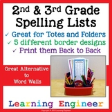 2nd Grade Spelling Lists, 3rd Grade Spelling Lists, 2nd Gr