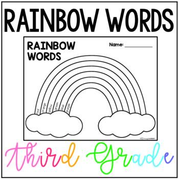 Third Grade Rainbow Words