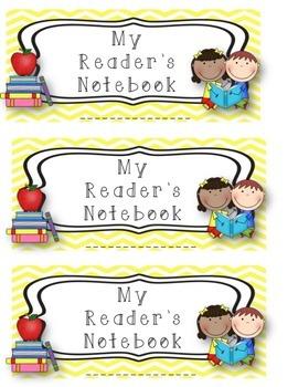 Third Grade Reader's Notebook Starter Kit!