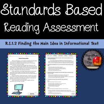 Third Grade ELA Standards Based Assessment RI.1.2