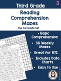 Third Grade Reading Comprehension Mazes Complete Set