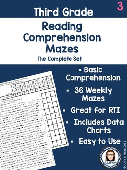 Third Grade Reading Comprehension Mazes FREE SAMPLE