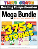 Third Grade Reading Comprehension NO-PREP ALL-IN-ONE MEGA BUNDLE (375+ STORIES)