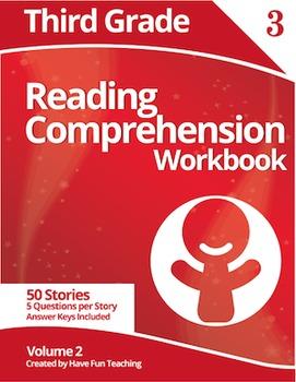 Third Grade Reading Comprehension Workbook - Volume 2 (50
